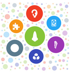 part icons vector image