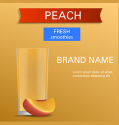 Peach fresh smoothies concept background vector