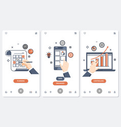 Planning and organizing concept set vector