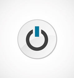 power on icon 2 colored vector image