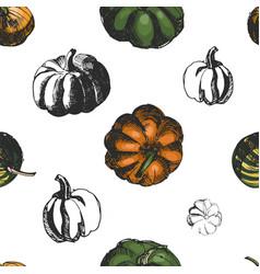 pumkin seamless pattern sketch vector image