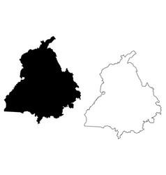 Punjab map vector