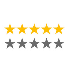 rating stars 5 rate review web ranking star vector image