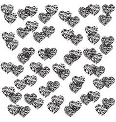Romantic graphic with hearts vector