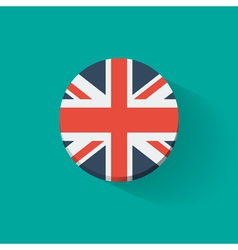Round icon with flag uk vector