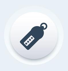 Security token icon vector