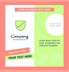 Sheild company brochure template busienss template vector
