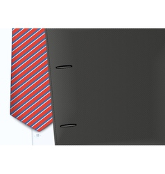 Shirt and tie vector