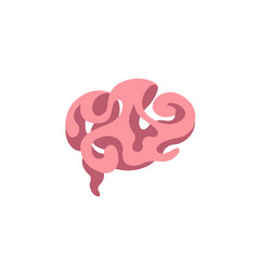 smart brain logo vector image