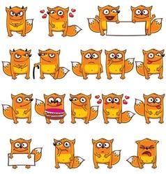 Smiley foxes vector