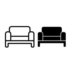 sofa line and glyph icon couch vector image
