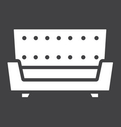 sofa solid icon furniture and interior vector image