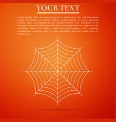 spider web icon on orange background cobweb sign vector image