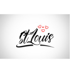 St louis city design typography with red heart vector