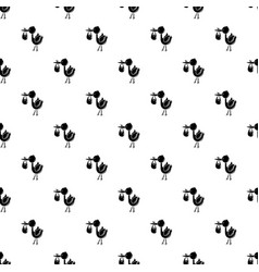 Stork child pattern seamless vector