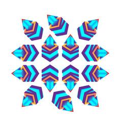 such 3d cubes purple with arrow logo design vector image