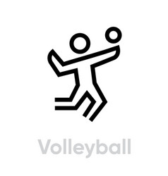 volleyball sport icons vector image