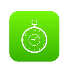 watch icon digital green vector image