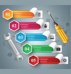 Wrench screwdriver repair icon business vector