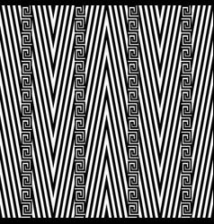 Zigzag chevron seamless pattern black and vector