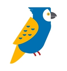 Cartoon parrot wild animal parrot bird tropical vector image vector image