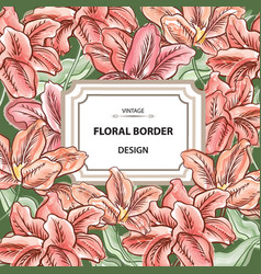 Floral background flower bouquet cover flourish vector
