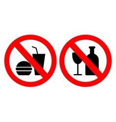 Set of icons forbidding food vector image vector image