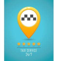 taxi service banner yellow taxi icon yellow map vector image vector image