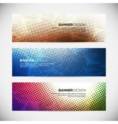 A set of modern banners with polygonal vector image vector image