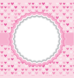Blank frame with heart background vector image vector image