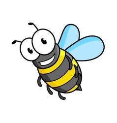 Cartoon bee or wasp character vector image