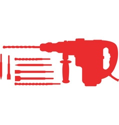 Electric Hammer with Drills vector image