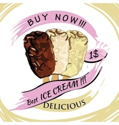 hocolate Ice-creame with price Popsicle on a vector image vector image