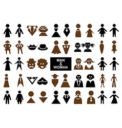 icons man and woman vector image