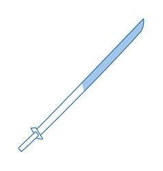 katana sword samurai war weapon icon vector image