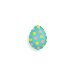 painted easter egg decorated with stars and dots vector image vector image