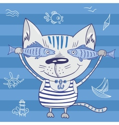 Sea cat vector image