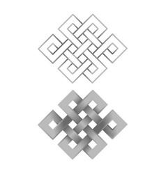 silver endless knots vector image vector image