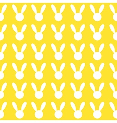 White Rabbit Yellow Background vector image