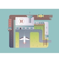 Airport top view vector image