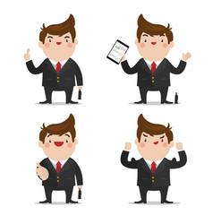 businessman set 1 vector image vector image