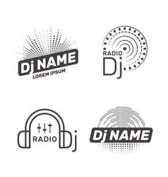 dj label vector image