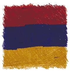 Flag of Armenia handmade square shape vector image vector image
