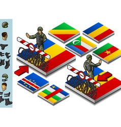 Isometric representation of Frontier militarily vector image vector image