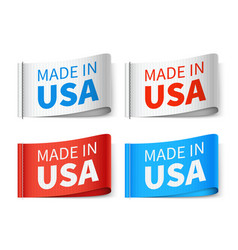 made in usa textile tags fashion label set vector image