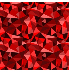 seamless red abstract geometric rumpled pattern vector image vector image