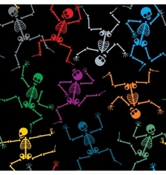 Skeletons seamless pattern vector image