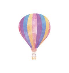 Watercolor hot air balloon on white vector