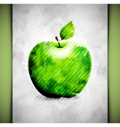 Apple watercolor vector image