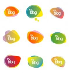 blog vector image vector image